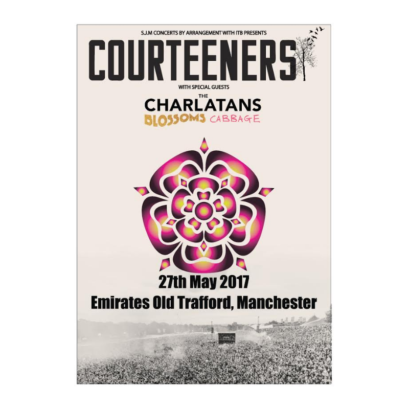 Buy Online Courteeners - Old Trafford 2017 Event Tea Towel