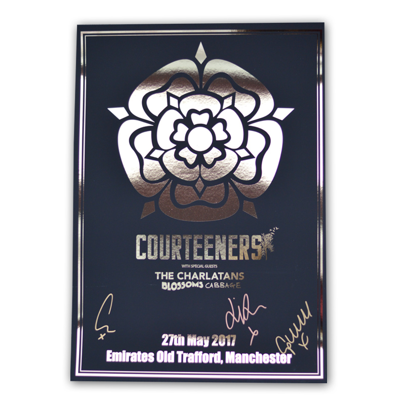 Buy Online Courteeners - Signed A3 Old Trafford Gold Foil Art Print