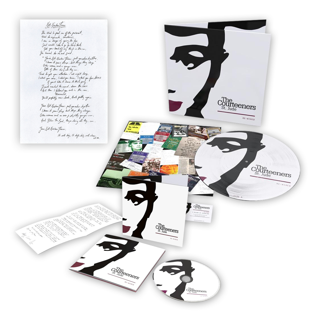 Buy Online Courteeners - St. Jude Re:Wired CD (Signed) + Picture Disc (Signed) + Not Nineteen Forever Lyric Sheet (Signed)