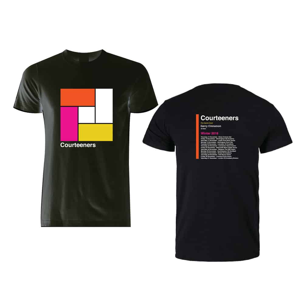 Buy Online Courteeners - Winter 2018 Tour T-Shirt