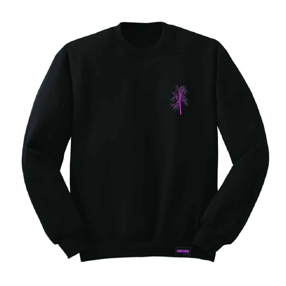 Buy Online Courteeners - Pink Tree Sweatshirt
