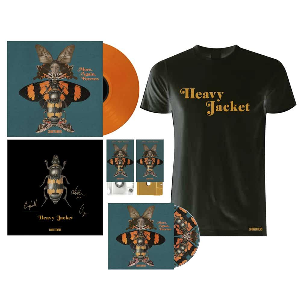Buy Online Courteeners - More. Again Forever. CD Album + Coloured Vinyl + 2 x Coloured Cassettes + T-Shirt + Signed Print