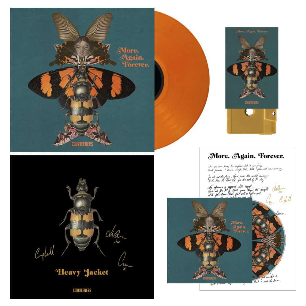Buy Online Courteeners - More. Again. Forever CD Album + Coloured Vinyl + Mustard Cassette + Signed Print + Signed Lyric Sheet