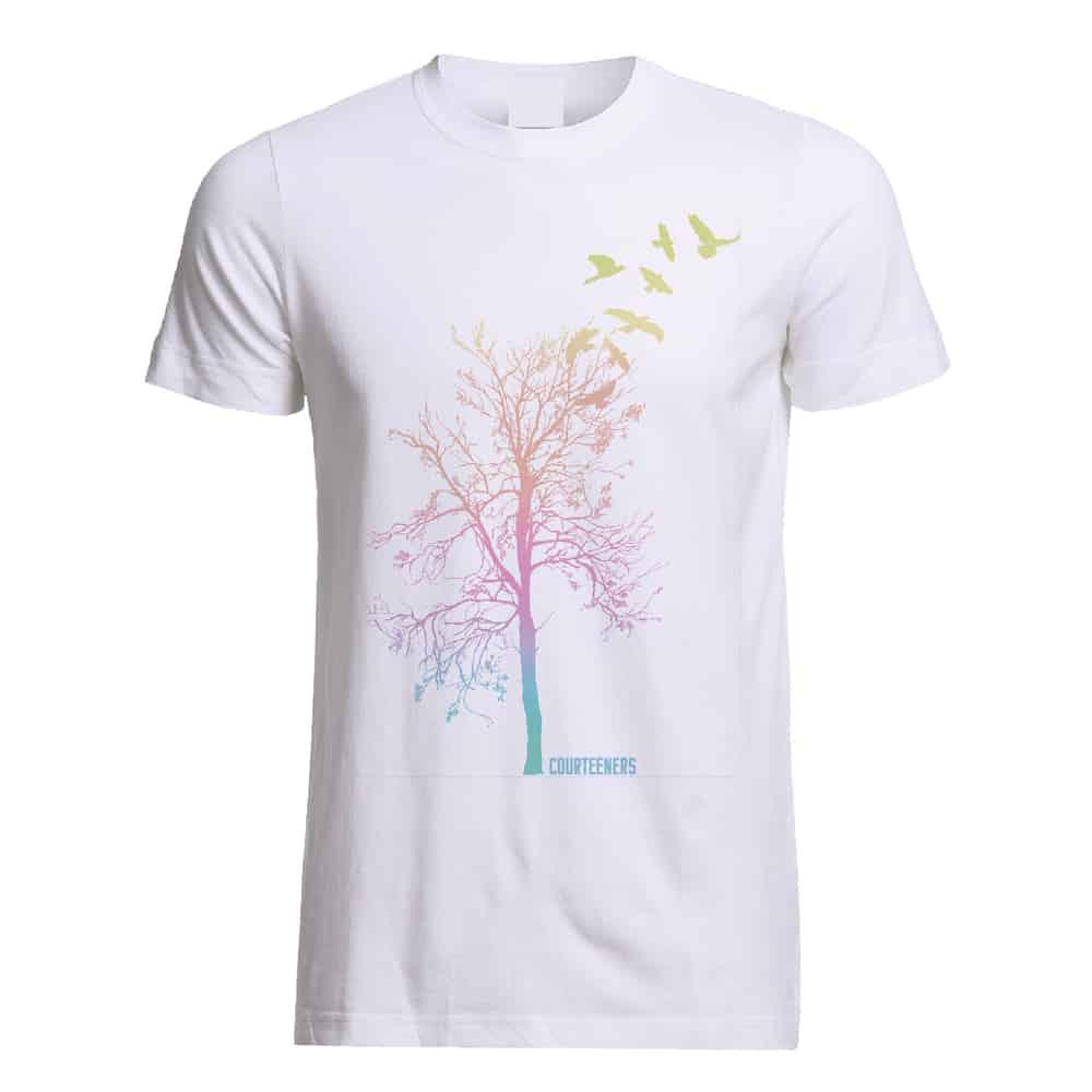 Buy Online Courteeners - Pastel Ombre Tree T-Shirt