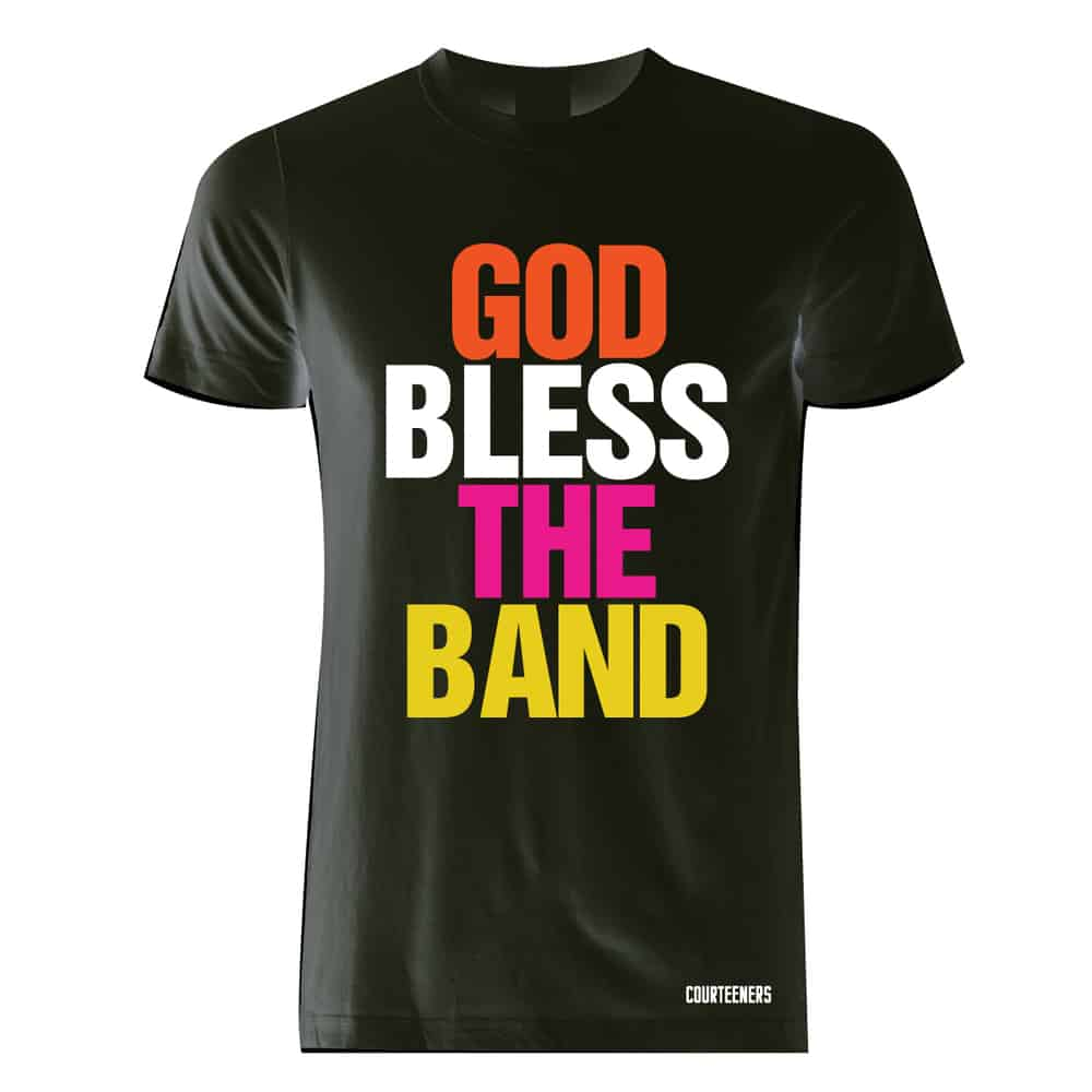 Buy Online Courteeners - God Bless The Band Multi-Colour T-Shirt