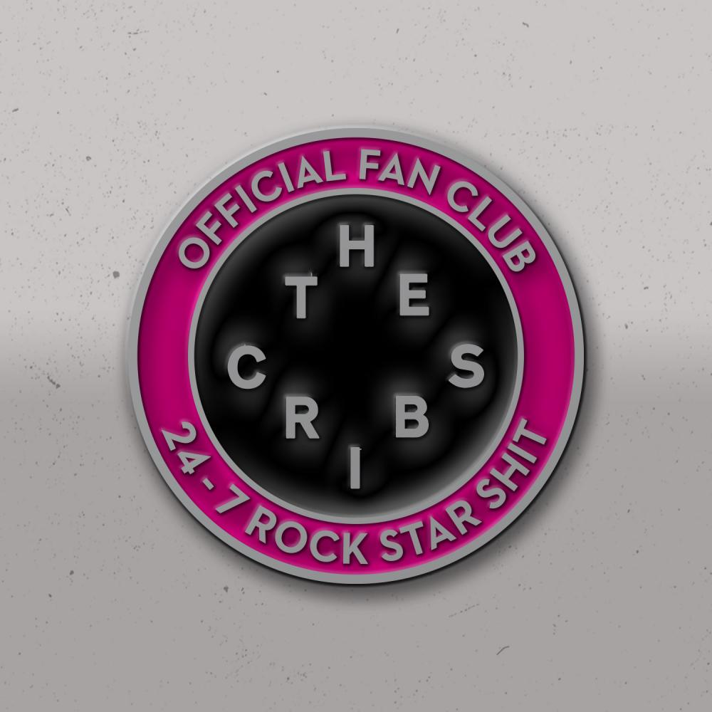 24-7 Rock Star Shit Enamel Badge
