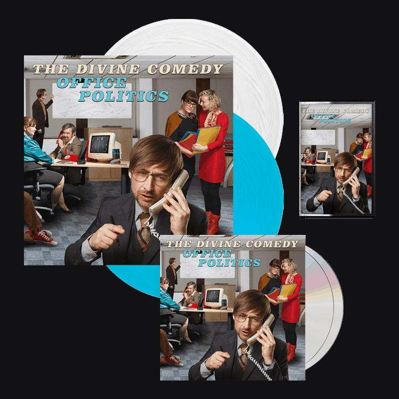 Buy Online The Divine Comedy - Office Politics Deluxe CD + Coloured Vinyl + Cassette + Signed Artwork Print