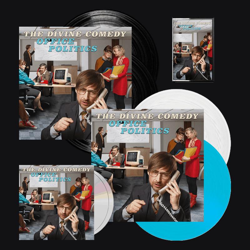 Buy Online The Divine Comedy - Office Politics Deluxe CD + Coloured Vinyl + Black Vinyl + Cassette + Signed Artwork Print