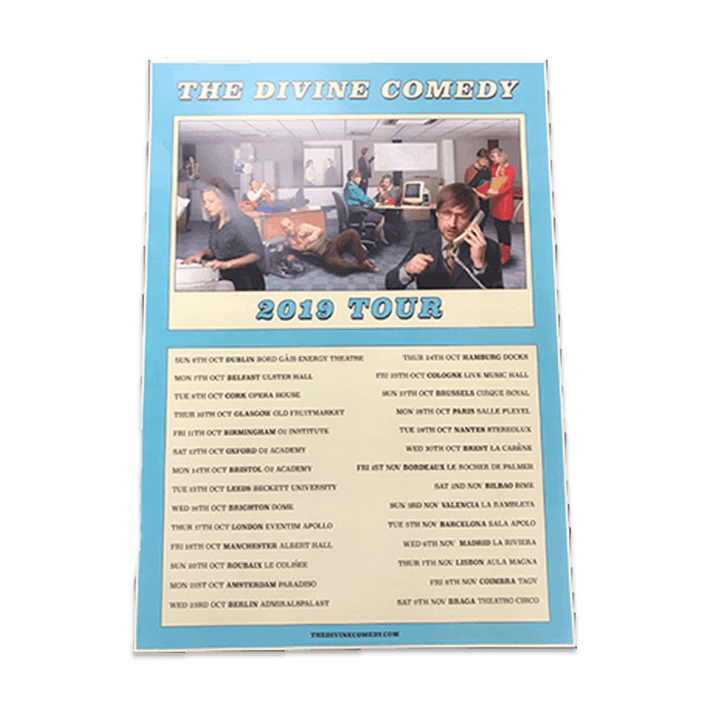 Buy Online The Divine Comedy - 2019 A3 Tour Poster