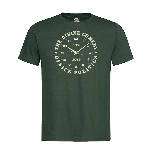 Buy Online The Divine Comedy - Office Politics Tour T-Shirt (Green)