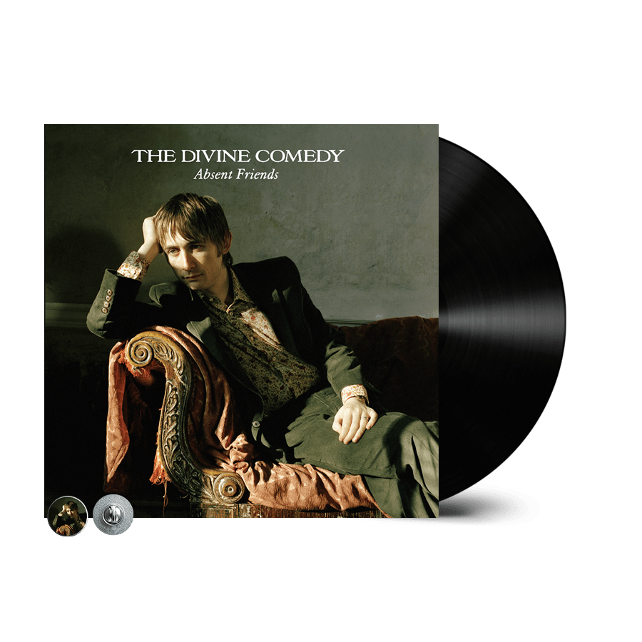 Buy Online The Divine Comedy - Absent Friends Vinyl (Remastered) (Inc. Absent Friends Badge)