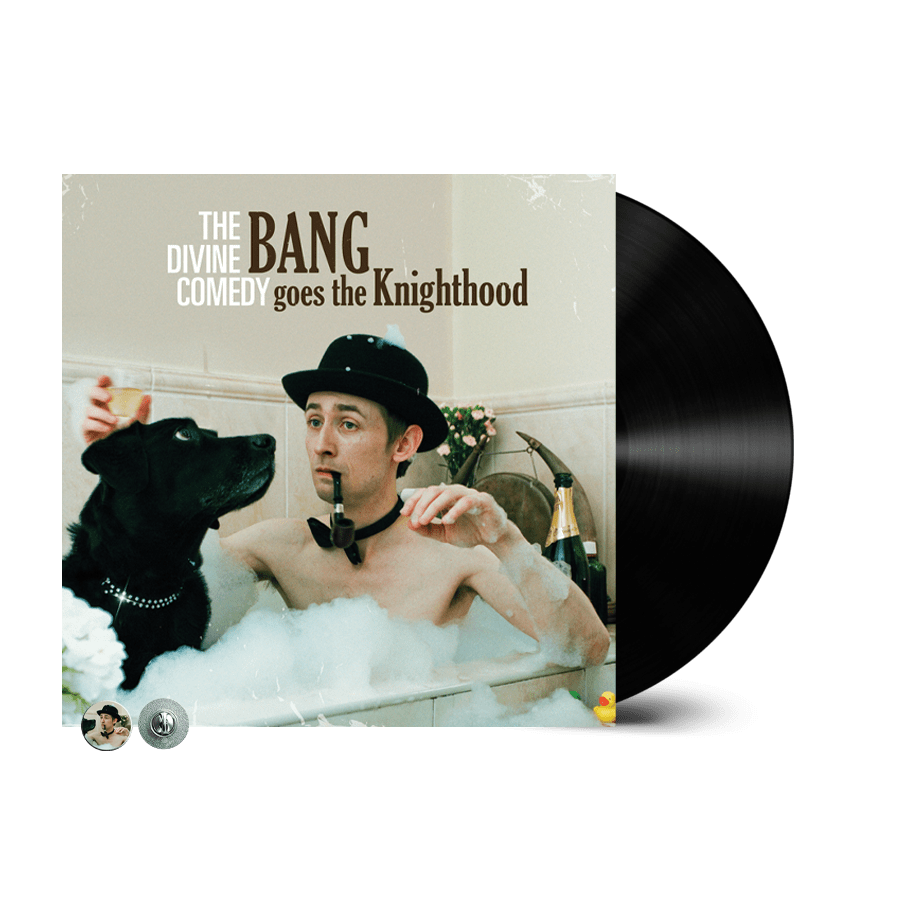 Buy Online The Divine Comedy - Bang Goes The Knighthood Vinyl (Remastered) (Inc. Bang Goes The Knighthood Badge)