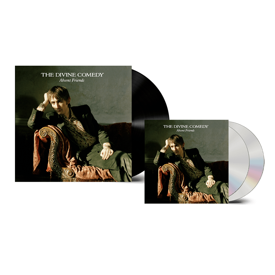 Buy Online The Divine Comedy - Absent Friends Vinyl + 2CD (Remastered) (Inc. Pin Badge)