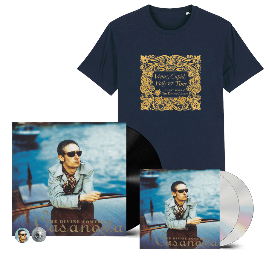 Buy Online The Divine Comedy - Casanova Vinyl + 2CD + T-Shirt (Remastered) (Inc. Pin Badge)
