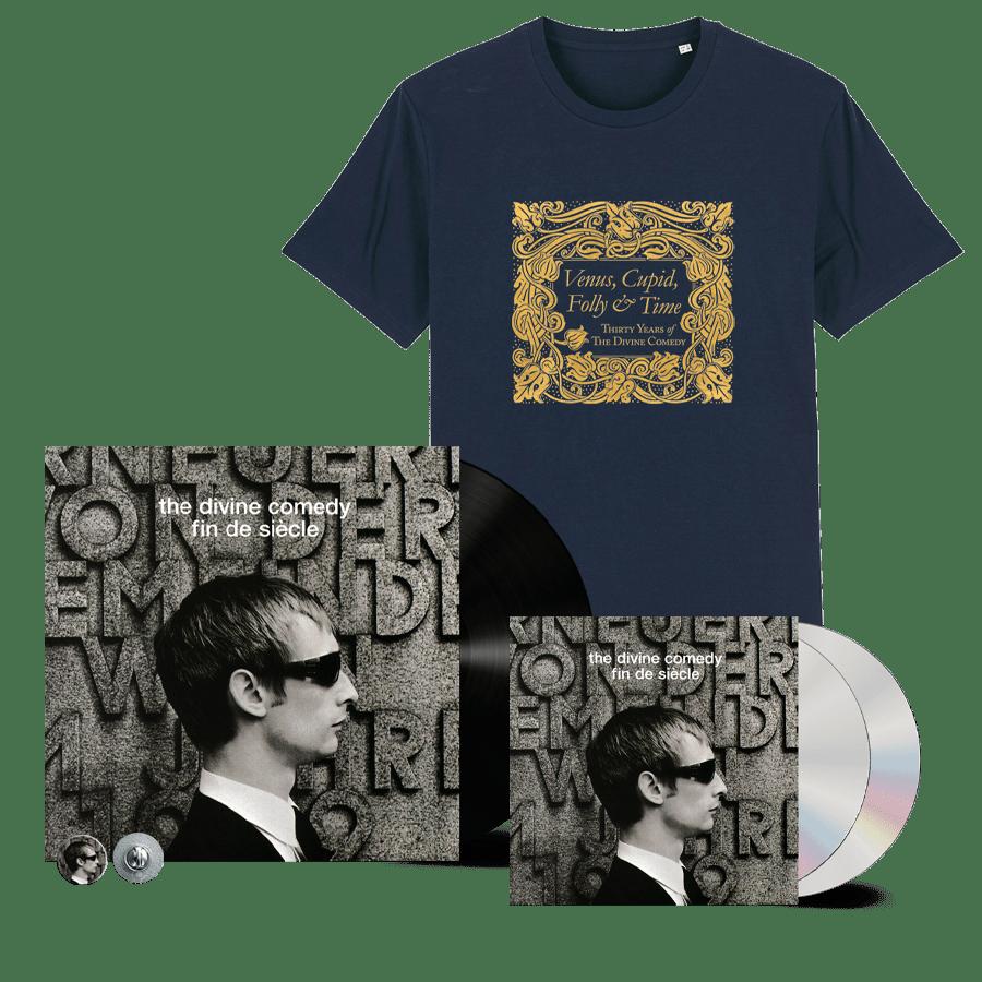 Buy Online The Divine Comedy - Fin De Siecle Vinyl + 2CD + T-Shirt (Remastered) (Inc. Pin Badge)