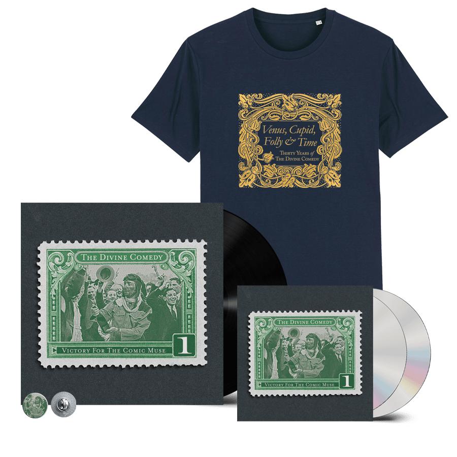 Buy Online The Divine Comedy - Victory For The Comic Muse Vinyl + 2CD + T-Shirt (Remastered) (Inc. Pin Badge)