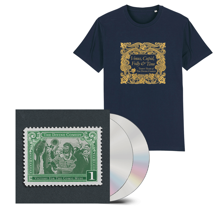 Buy Online The Divine Comedy - Victory For The Comic Muse 2CD (Remastered) + T-Shirt