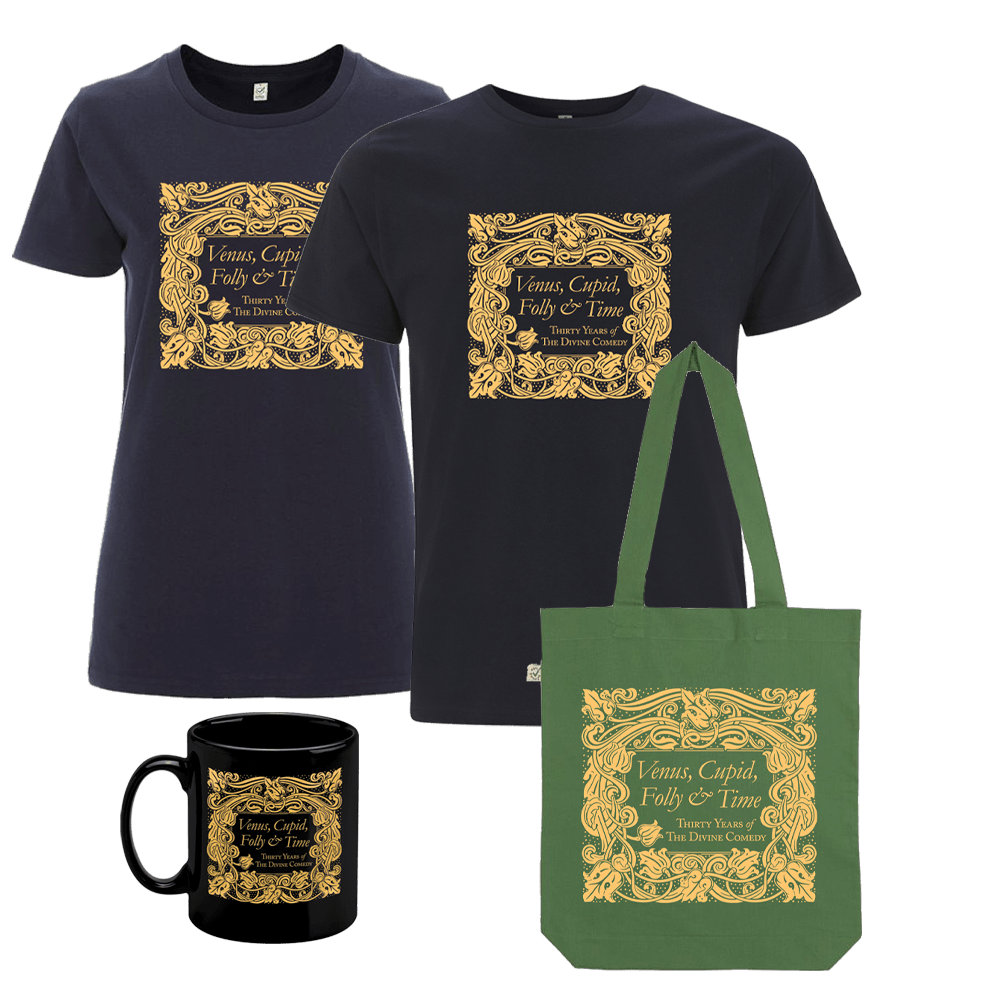 Buy Online The Divine Comedy - Venus, Cupid, Folly and Time T-Shirt + Tote Bag + Mug
