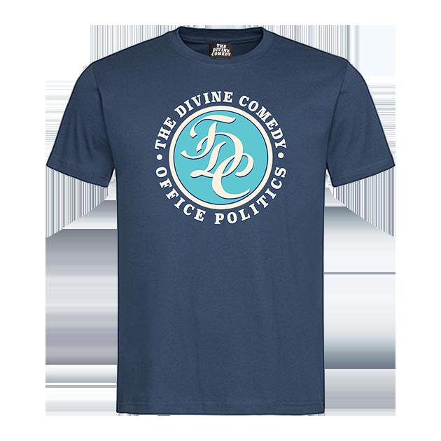 Buy Online The Divine Comedy - Office Politics T-shirt - TDC logo (Blue)