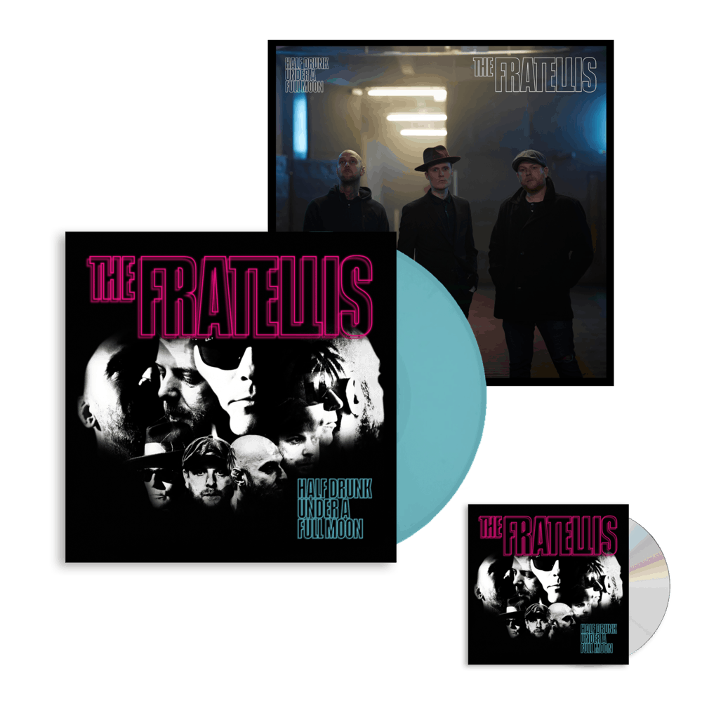 Buy Online The Fratellis - Half Drunk Under A Full Moon CD Album (Signed) + Coloured Vinyl (Exclusive) + 12