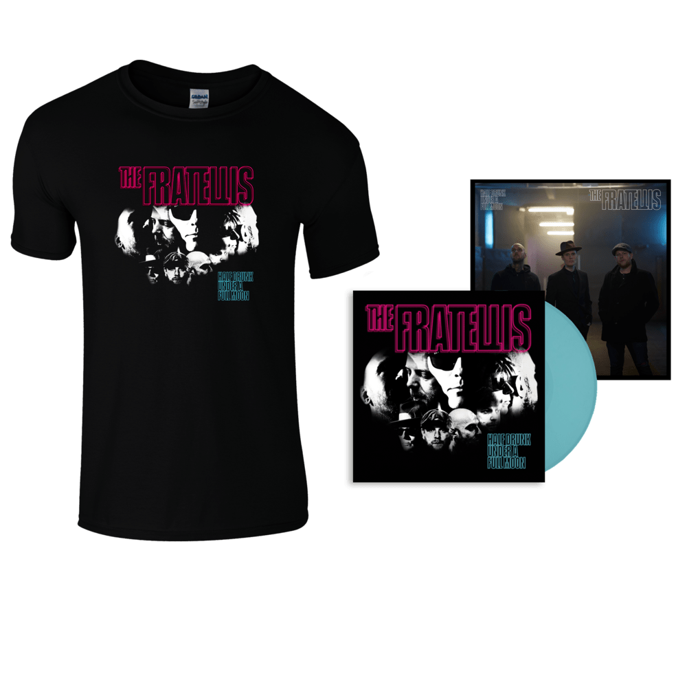 Buy Online The Fratellis - Half Drunk Under A Full Moon Coloured Vinyl (Exclusive) + T-Shirt + 12