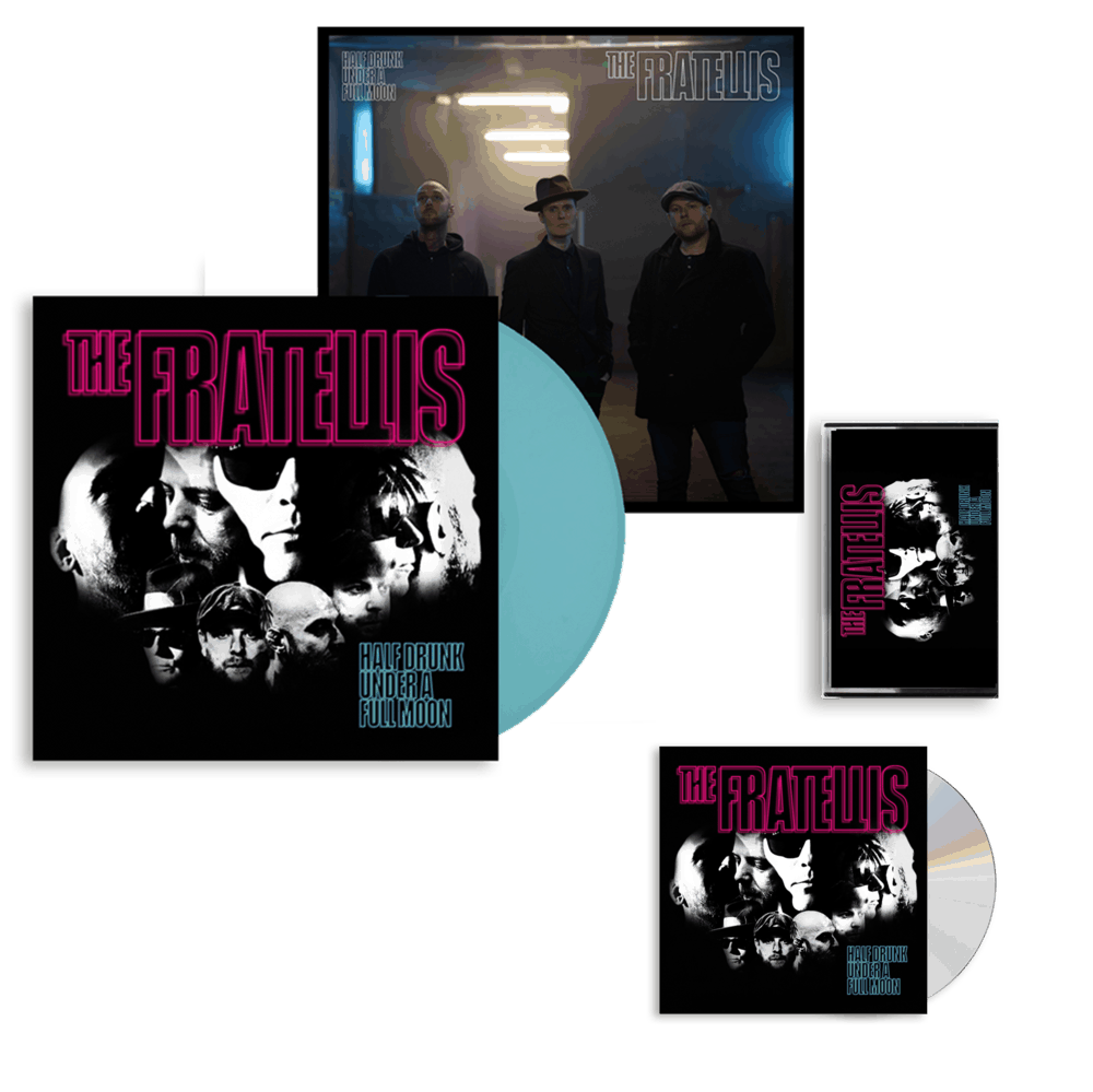Buy Online The Fratellis - Half Drunk Under A Full Moon CD Album (Signed) + Coloured Vinyl (Exclusive) + Cassette + 12