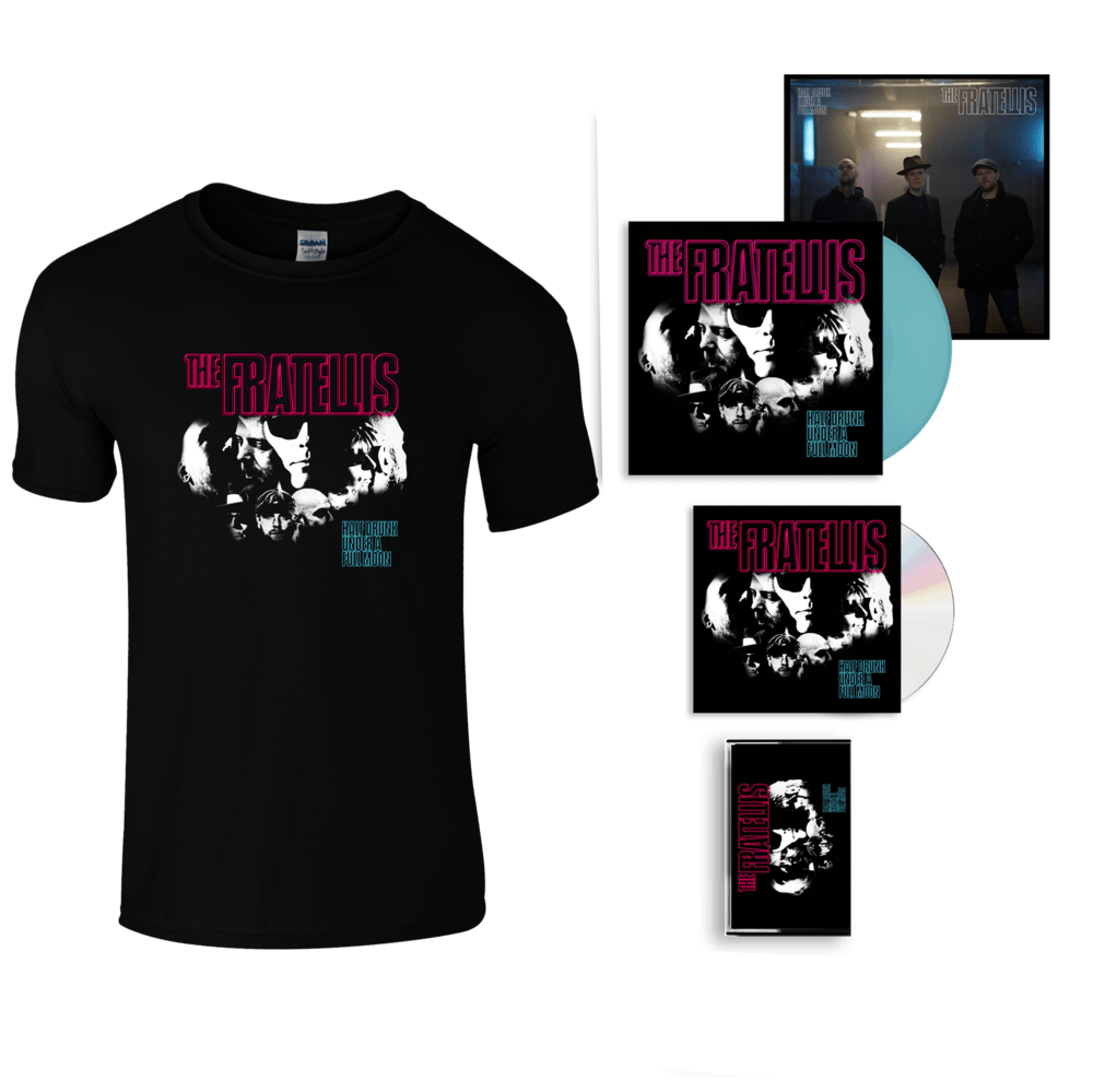 Buy Online The Fratellis - Half Drunk Under A Full Moon CD Album (Signed) + Coloured Vinyl (Exclusive) + Cassette + Album T-Shirt + 12