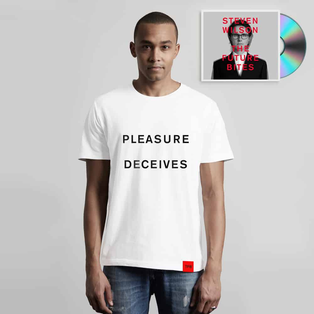 Buy Online Steven Wilson - Steven Wilson x The Future Bites™ CD + Pleasure Deceives T-Shirt