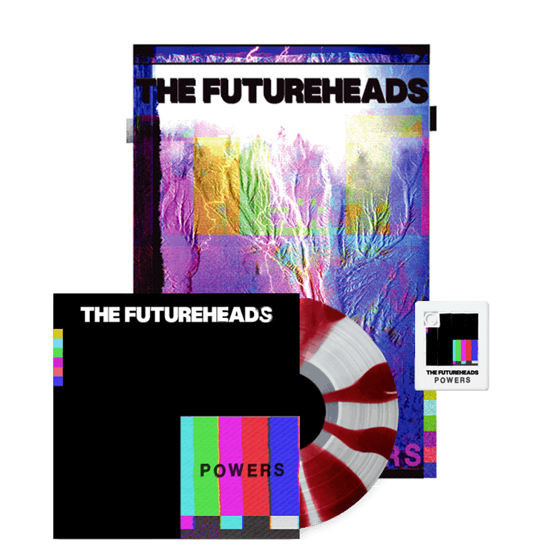 Buy Online The Futureheads - Powers - Red & White Vinyl (Ltd Edition) + Finger Puzzle + Screen Printed Artwork