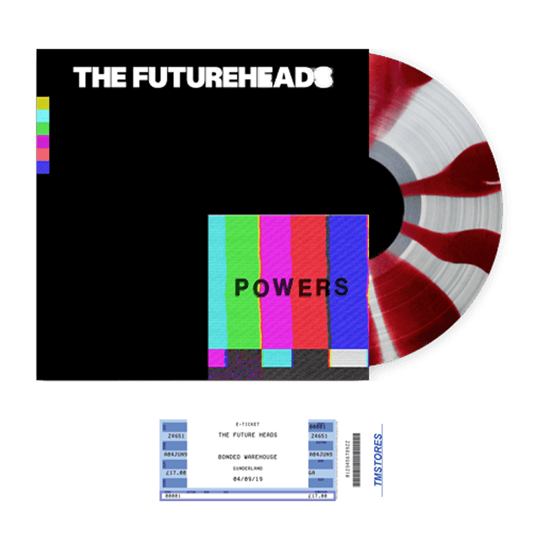 Buy Online The Futureheads - Powers - Red & White Vinyl (Ltd Edition) + Sunderland Bonded Warehouse Ticket