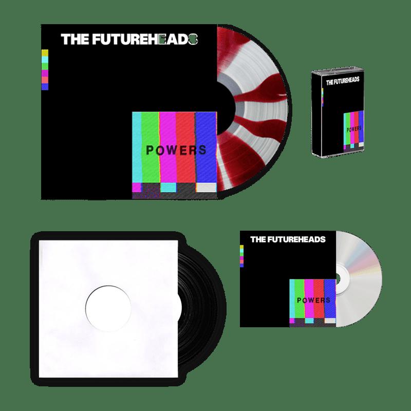 Buy Online The Futureheads - Powers - Red & White Vinyl (Ltd Edition) + CD + Cassette + 7-Inch Vinyl
