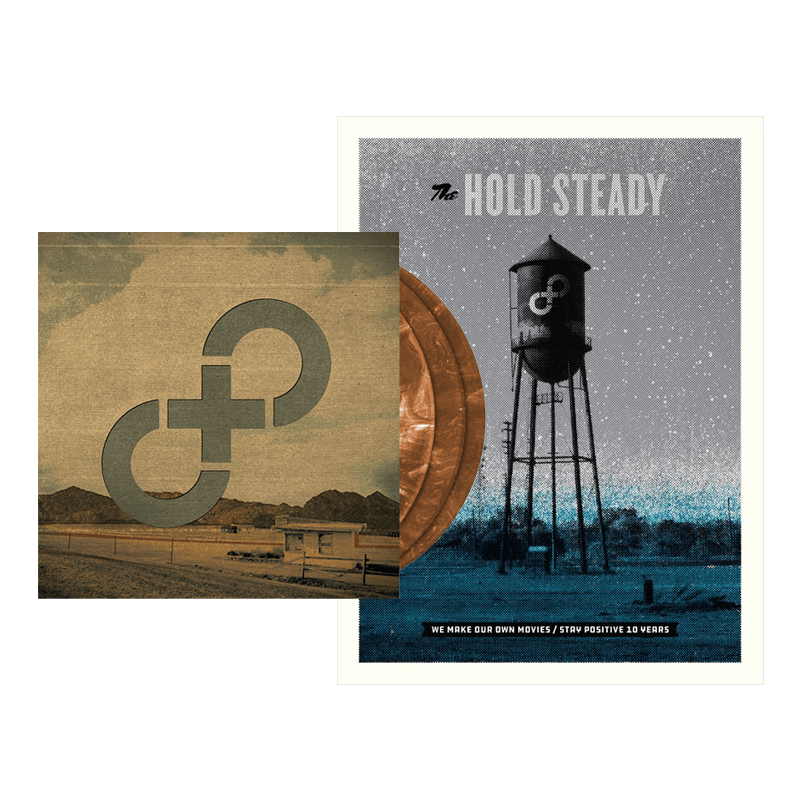 Buy Online The Hold Steady - Stay Positive Triple Brown Vinyl + Poster