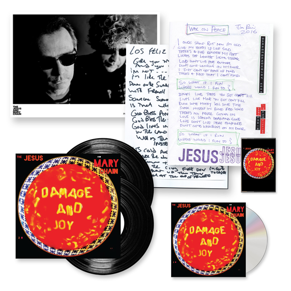 Buy Online The Jesus And Mary Chain - Damage And Joy CD + Double Heavy LP (Signed) + Cassette + A4 Photo (Signed) + Lyric Sheets (Signed)