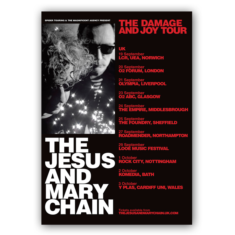 Buy Online The Jesus And Mary Chain - September/October 2017 Tour Ticket