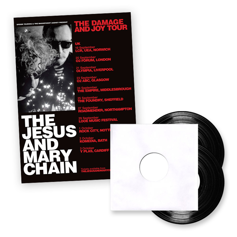 Buy Online The Jesus And Mary Chain - 2017 Tour Ticket + Damage And Joy Vinyl Test Pressing