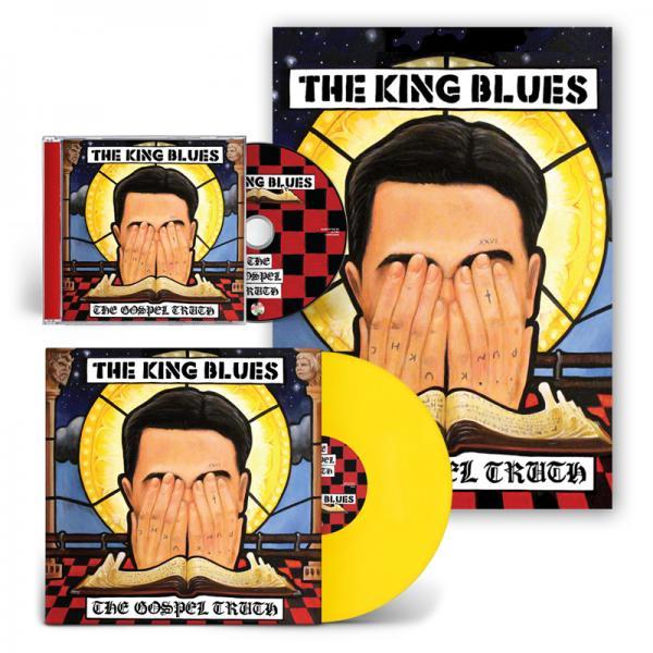 Buy Online The King Blues - The Gospel Truth CD + Yellow Vinyl + Signed Art Print