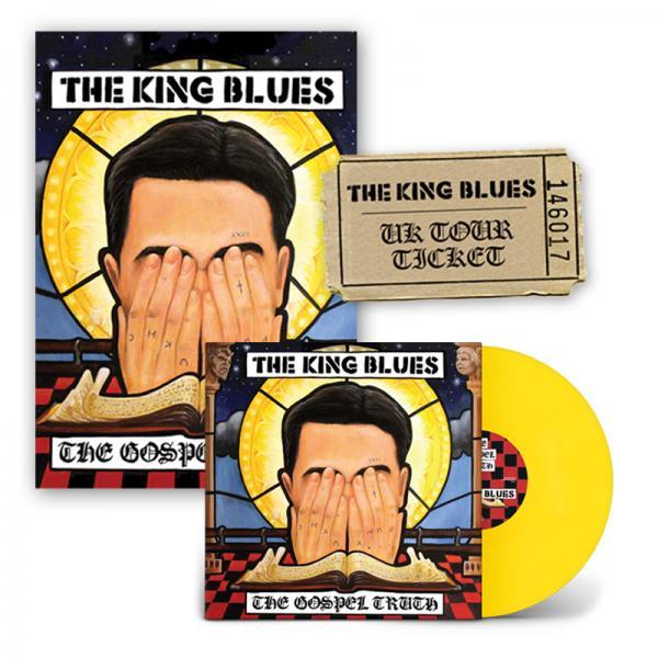 Buy Online The King Blues - The Gospel Truth LP (Exclusive Yellow Vinyl) + Signed Art Print + Ticket