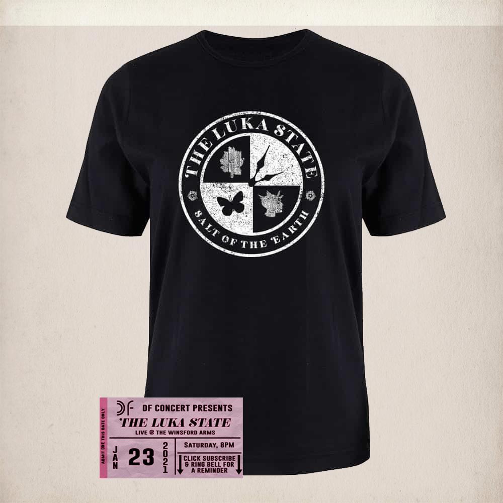 Buy Online The Luka State - Free Live Stream Ticket (DF) + Unisex Black Rocker T-Shirt