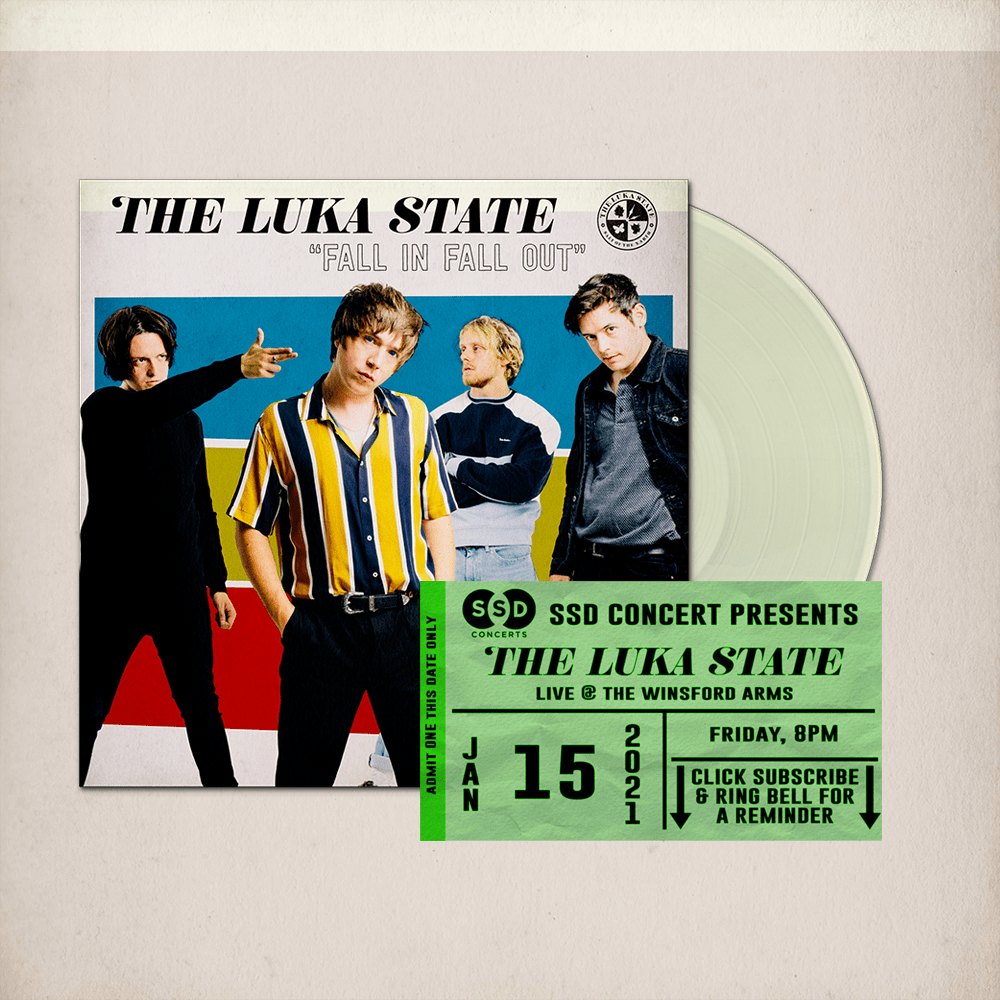 Buy Online The Luka State - Free Live Stream Ticket (SSD) + Fall In Fall Out Cream Vinyl (Signed)