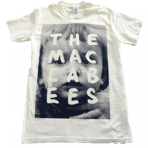 Buy Online The Maccabees - Women's White and Navy Sam T-shirt inc. FREE 2017 Tour Programme