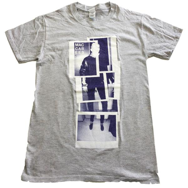 Buy Online The Maccabees - Men's Grey and Navy Polaroid T-shirt