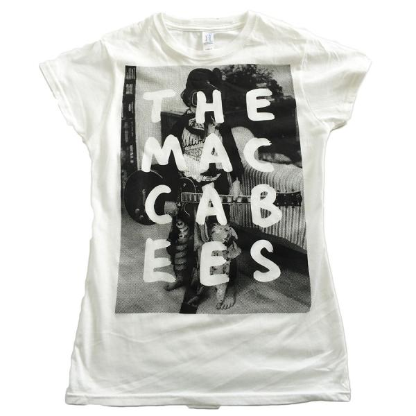 Buy Online The Maccabees - Men's White and black Hugo T-shirt