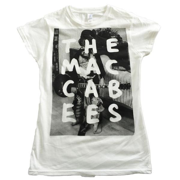 Buy Online The Maccabees - Women's White and black Hugo T-shirt