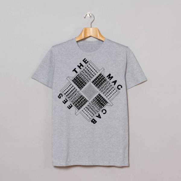 Buy Online The Maccabees - Grey Square T-Shirt inc. FREE 2017 Tour Programme