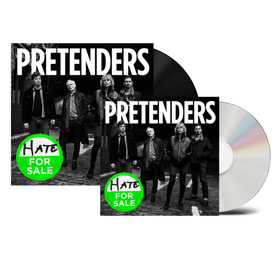Buy Online The Pretenders - Hate For Sale CD + Black Heavyweight Vinyl