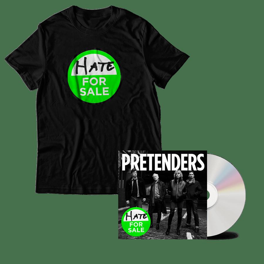 Buy Online The Pretenders - Hate For Sale CD + Album T-Shirt