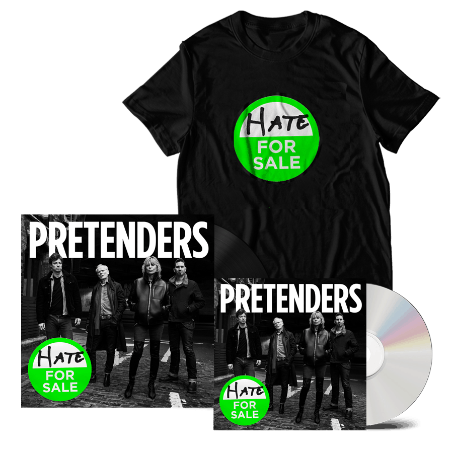 Buy Online The Pretenders - Hate For Sale CD + Black Heavyweight Vinyl + Album T-Shirt