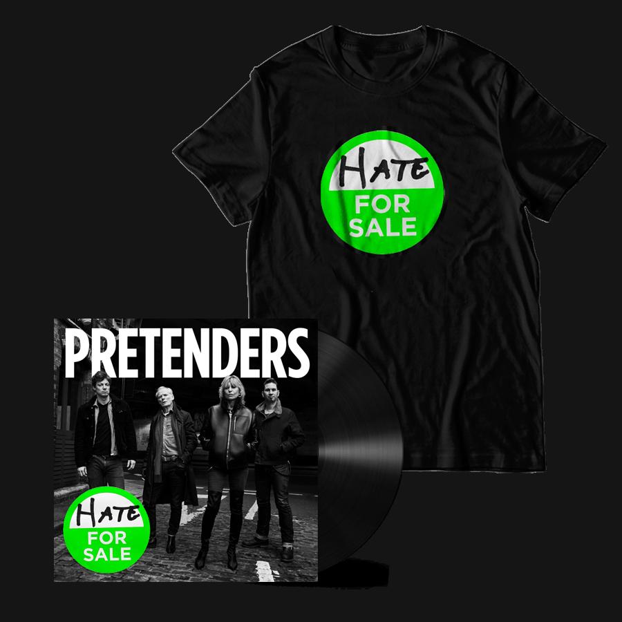 Buy Online The Pretenders - Hate For Sale Black Heavyweight Vinyl + Album T-Shirt