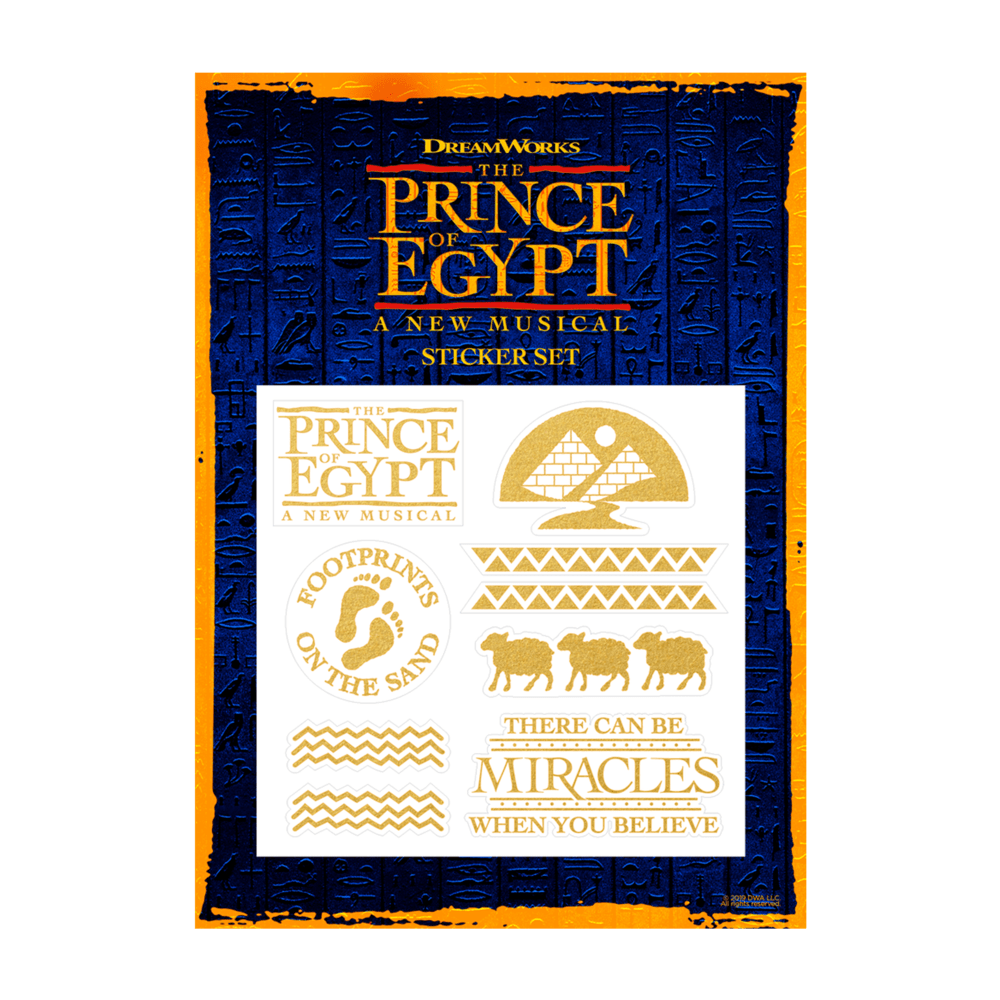 Buy Online The Prince Of Egypt - Sticker Sheet