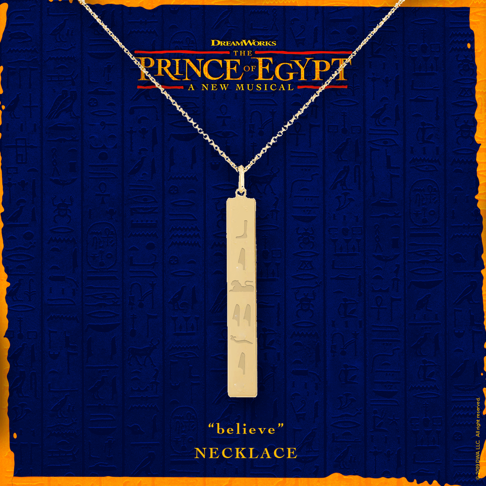 Buy Online The Prince Of Egypt - Believe Necklace
